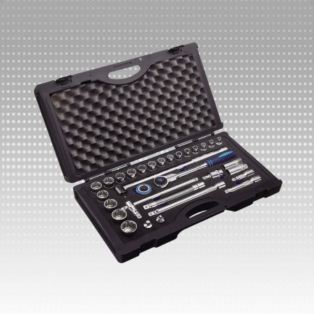 "31PC 1/2""Dr.Socket Set-12PT & Inch Size - 31PC 1/2""Dr.Socket Set-12PT & Inch Size"