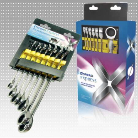 7 PC One Way Ratcheting Combination Wrench Set