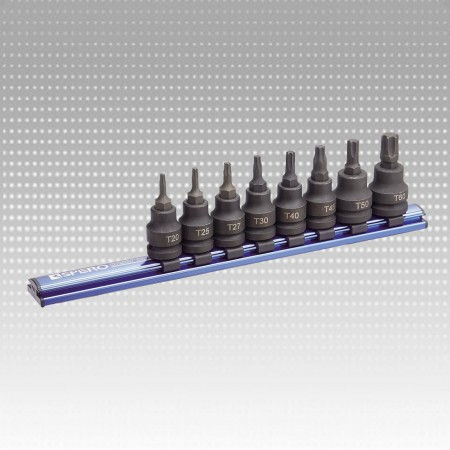 "8PC 1/2""Dr.Impact Torx Bit Socket Magnetic Rail Set"