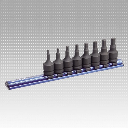 "8PC 1/2""Dr.Impact Hex Bit Scoket Magnetic Rail Set"