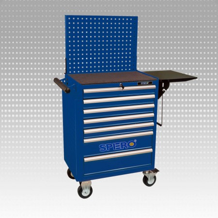 7-drawer Tool Trolley with worling table