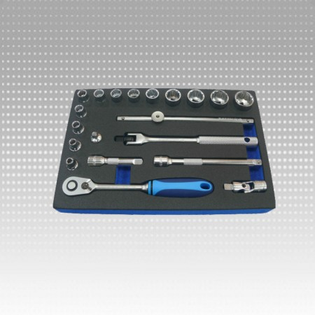 "20PC 3/8""DR. SOCKET SET - 12PT & SAE"