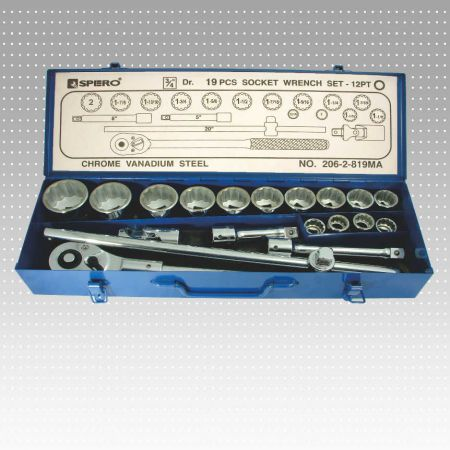 "19PC 3/4"" socket wrench set - 12 PT"