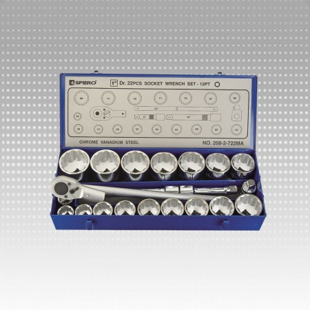 "22PC 1"" socket wrench set - 12PT"