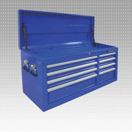 """42"""" 8-Drawers Top Chest - 8-Drawers Tools chest with a top cover use clinder."""