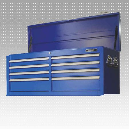"53"" 8-Drawers Top Chest - Width 53"" 8-Drawers Tools chest with a top cover use clinder."
