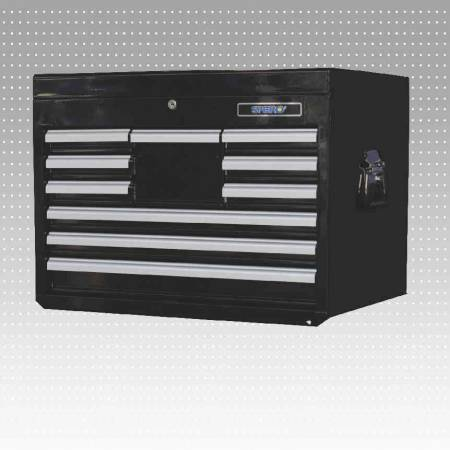 10-Drawer Tool Cabinet  (BLACK) - 10-Drawer Tool Cabinet (BLACK)