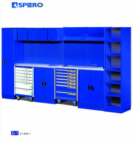Cabinet OA Design 6 Span Assembly Storage BLUE 6-1 - Cabinet OA Design 6 Span Assembly Storage BLUE 6-1