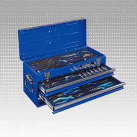 53 PC Hand Carry 3-Drawer Tool Box and Tool Set