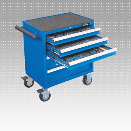 165 PC 5 or 7-Drawer Tool Trolley & Tool Set