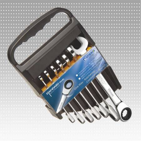 One Way Ratcheting Combination Wrench Set