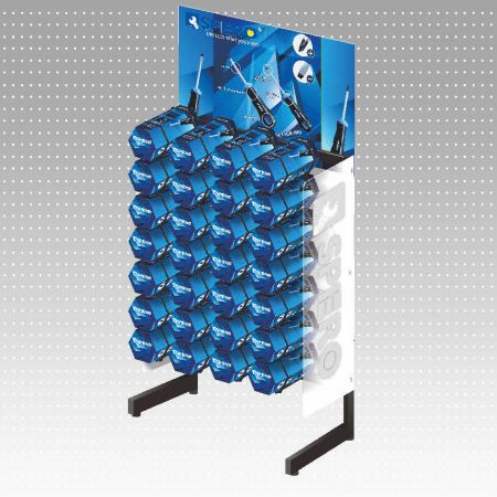 28 Cell Honeycomb Display Rack - This display rack is for Honeycomb style package in screwdriver & plier set.