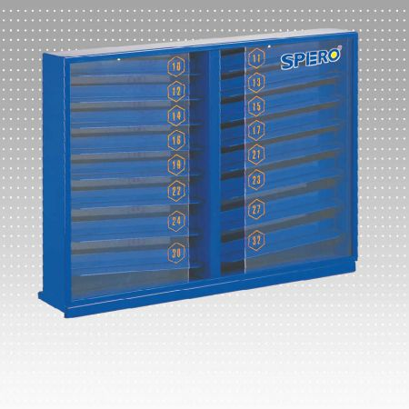 Standard Socket Display Metal Stand - With storage and display on effective