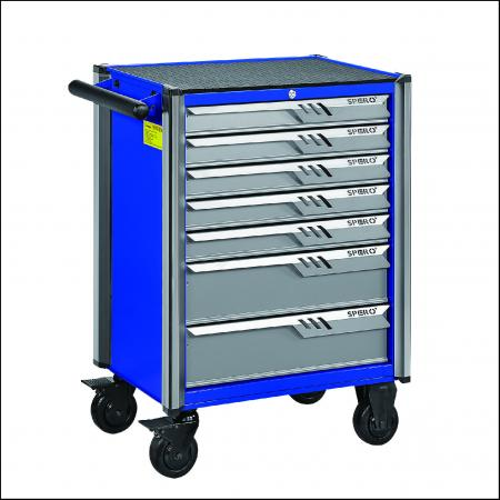 165 PCS Tool Trolley 7-Drawers - ANTI-CRASH CORNER 165 PC TOOL TROLLEY