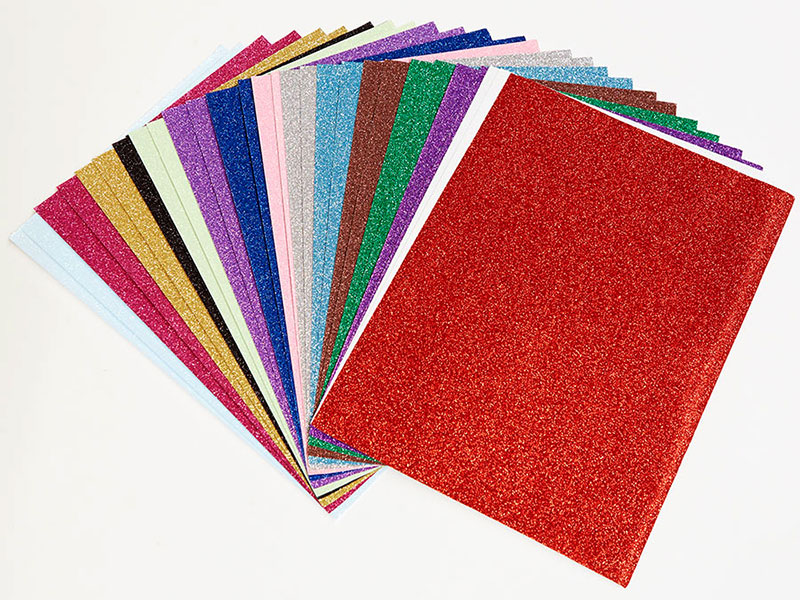 Sheets  Glitter Card Various Colours Crafts Paper Party Invitations GIft Wrap