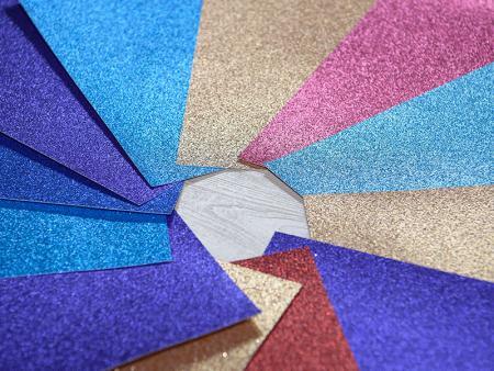 Glitzerpapier Karton - Glitzerpapier, Glitzer-Kartonpapier, DIY Bastelpapier-Projekt, Hochzeits-Geburtstags-Party-Dekoration