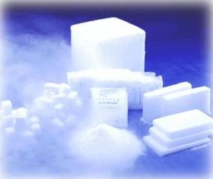 Confezionatrice per fette di ghiaccio secco - Blocco e fette di ghiaccio secco