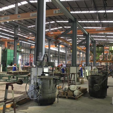 Sand mold production line