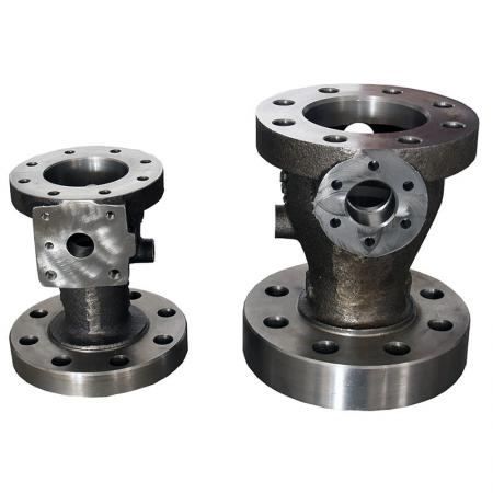 Machined Metal Castings - Floating Ball Valve Body