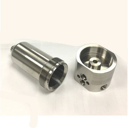 Machined Valve Components - Filter Housing and Block SS316