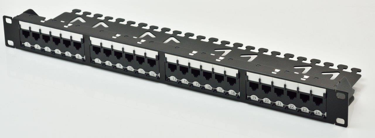 Patch panel modulare UTP Super Categoria 6 a 24 porte 1U - Patch panel modulare UTP Super Categoria 6 1U a 24 porte