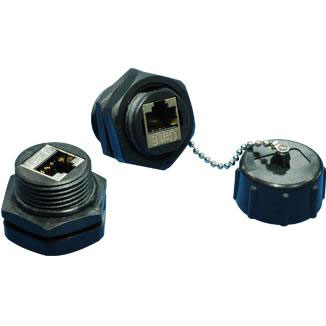 IP67 Cat 6 STP Industrial Bulkhead Coupler - IP67 Cat 6 STP Industrial Bulkhead Coupler