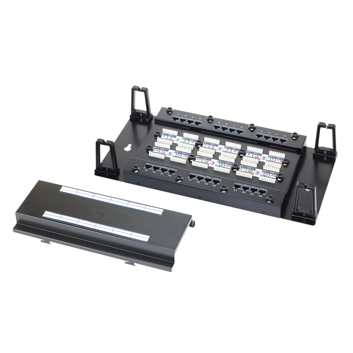 Wall Mount Moludar Type 24-Port UTP Modular Patch Panel - Wall Mount Moludar Type 24-Port UTP Modular Patch Panel