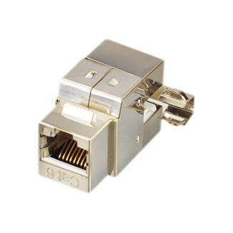 Cat 5e 180° STP Punchdown Keystone Jack with Cable Holder - Cat 5e180° STP Punchdown Keystone Jack with Cable Holder