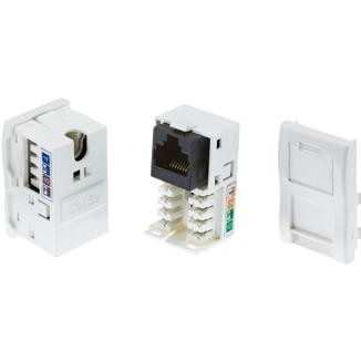 Cat 6 / Cat 5e UTP LJU6C Module with Shutter - Cat 6 / Cat 5e UTP LJU6C Module with Shutter