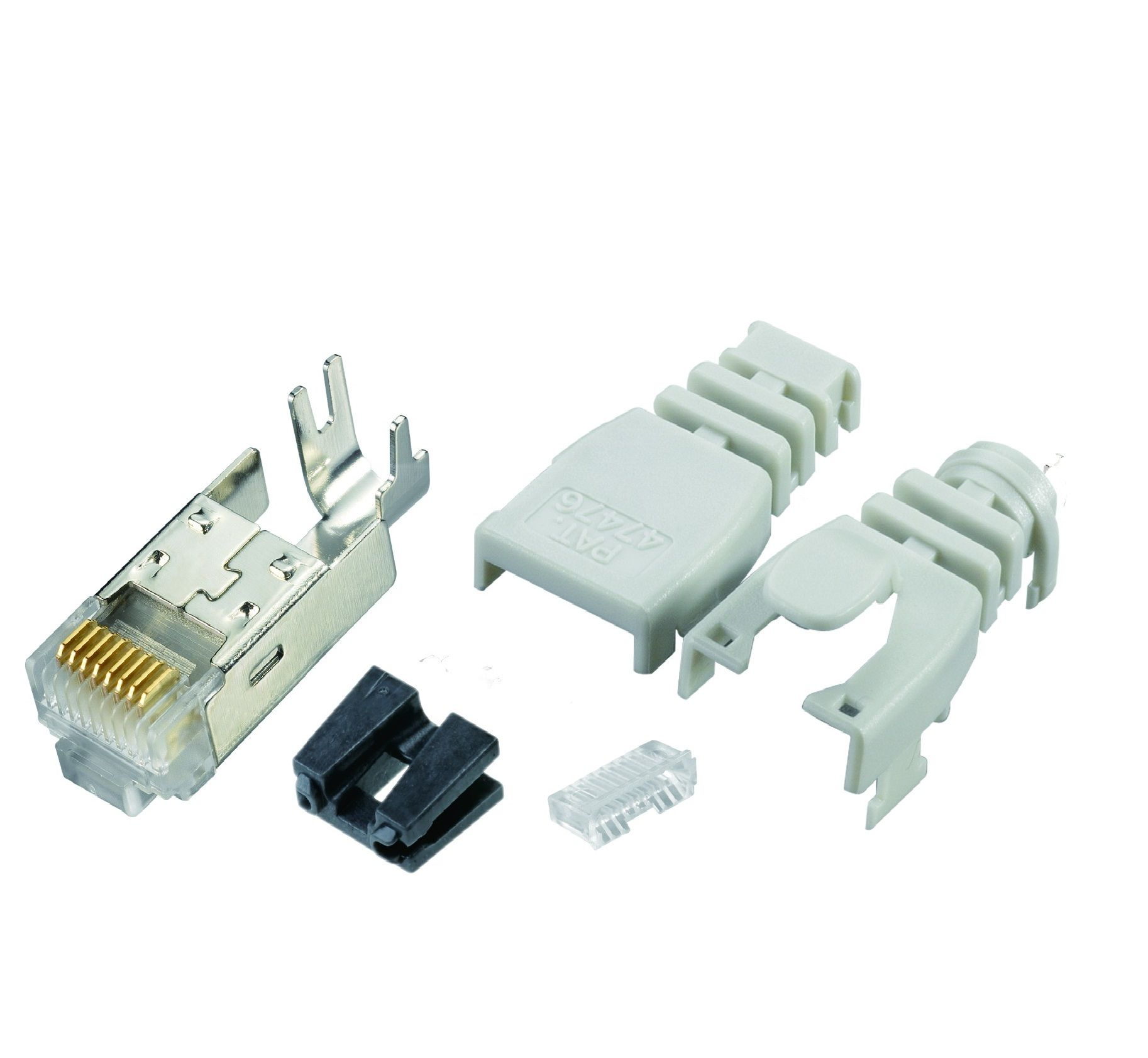 Multi-Piece Type RJ45 Plug for Cat 6 STP Cable - Multi-Piece Type RJ45 Plug for Cat 6 STP Cable