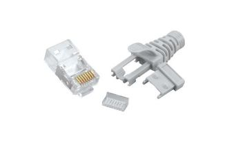 STP Cat 5e - Multi-Piece Type RJ45 Plug for Cat6A STP Cable