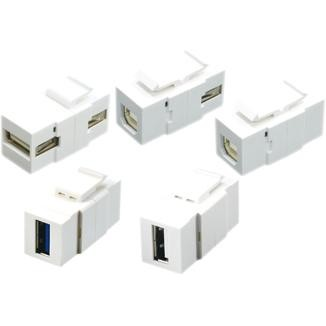 Horizontal Type 180° USB 2.0 / 3.0 Coupler - Horizontal Type 180° USB 2.0 / 3.0 Coupler