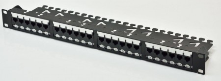 1U 24-Port UTP Super Category 6 لوحة التصحيح المعيارية مستوى المكون - 1U 24-Port UTP Super Category 6 Modular Patch Panel