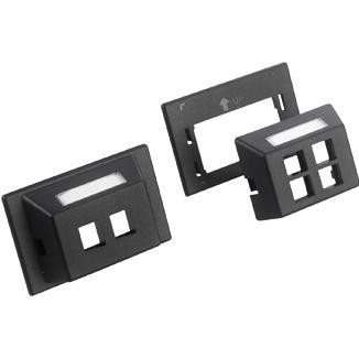 SIP Type Single-Gang Furniture Plate with Label - SIP Type Single-Gang Furniture Plate with Label