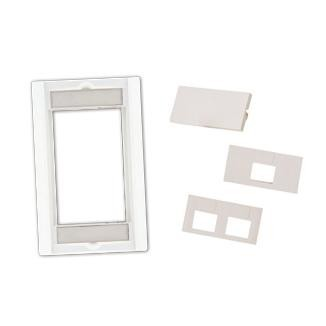 Single-Gang Wall Plate Frame with Multifunctional Bezel