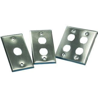 Single Gang Stainless Steel Faceplate - Single Gang Stainless Steel Faceplate