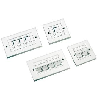2-Port Faceplate with Shutter - 2-Port Faceplate with Shutter