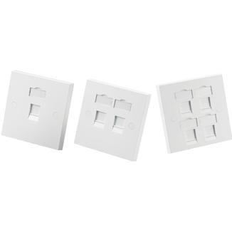 Single-Gang Faceplate with Shutter - Single-Gang Faceplate with Shutter
