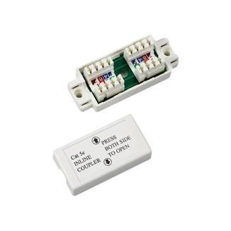 180° Cat 6 UTP Feed-Through Dual IDC Coupler - Die-cast 180° UTP Feed-Through Straight Dual IDC Type Coupler