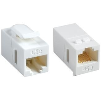 180° RJ45 Cat 6 UTP Feed-Through Keystone Coupler - 180° UTP Feed-Through Straight Keystone Type Coupler