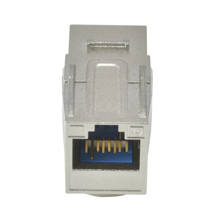 Coupleur Keystone Traversant HCI 180 ° RJ45 Cat 6A STP 02