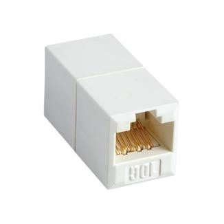 180° RJ45 Cat 6A UTP Feed-Through In-Line Coupler - 180° Cat6A UTP Feed-Through Straight In-Line Type Coupler