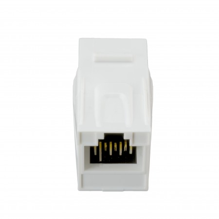 HCI 180° RJ45 Cat 6A UTP Feed-Through Keystone Coupler 05