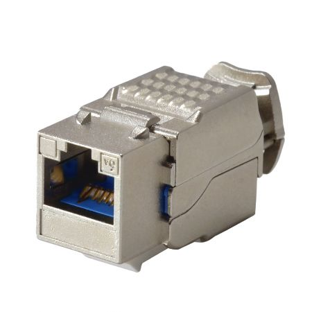 ISO/IEC Cat 6A Component Level 90° STP Toolless Keystone Jack - Cat6A Component Level 90° STP Toolless Keystone Jack