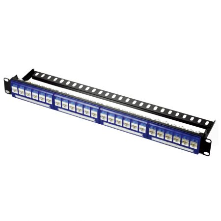 1U 24-Port UTP Snap-In Type Front Access Panel
