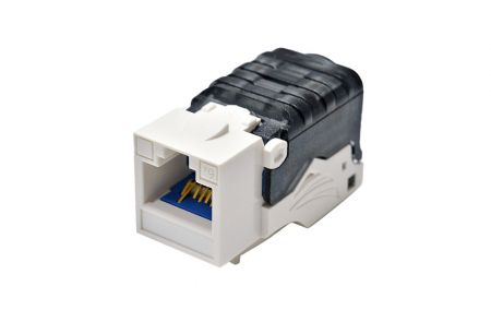 Toolless - Cat6A Component Level 90° UTP Toolless Keystone Jack