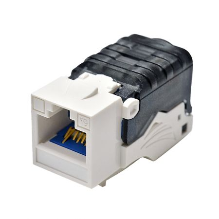 ISO/IEC Cat 6A Component Level 90° Toolless Keystone Jack