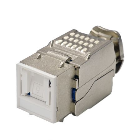 Category 6 - Cat6 Component Level 90° STP Toolless Keystone Jack with Shutter