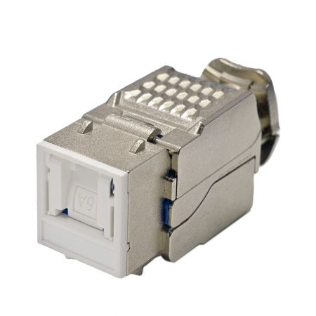 Category 6A - Cat6A Component Level 90° STP Toolless Keystone Jack with Shutter
