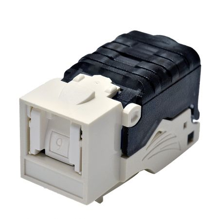 Category 6 - Cat6 Component Level 90° UTP Toolless Keystone Jack with Shutter